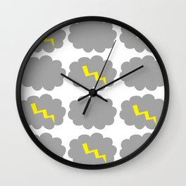 Stormy weather. Wall Clock