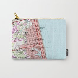 Vintage Map of Virginia Beach (1965) 2 Carry-All Pouch