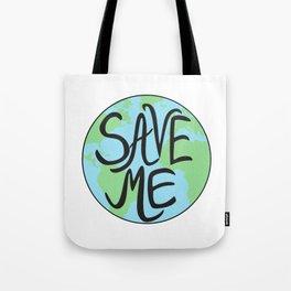 Save Me Earth Hand Drawn Tote Bag