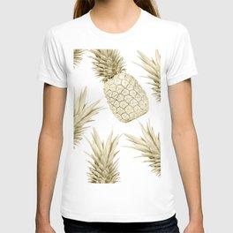 Gold Pineapple Bling T-shirt