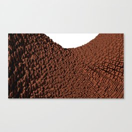 Curved surface brown Canvas Print