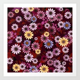 Multicolored natural flowers 4 Art Print