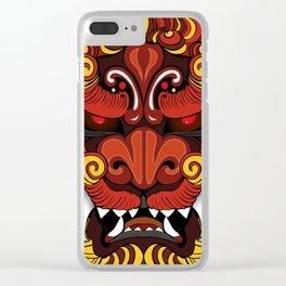 Dragon chino de la oscuridad Clear iPhone Case