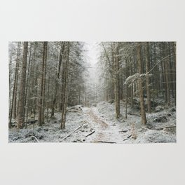 For now I am Winter - Landscape photography Rug