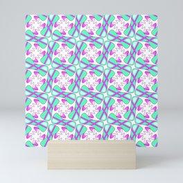 Cool Mint Kiss Bubble Gum Pink Simple Abstract Mint Candy Spirit Organic Mini Art Print