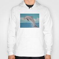 dolphin Hoodies featuring Dolphin by Sara Huszak Art and Design