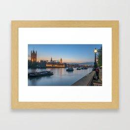Westminster after sunset Framed Art Print