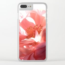 Pink Peony Clear iPhone Case