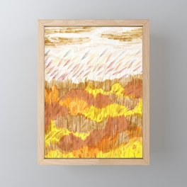 Golden Field drawing by Amanda Laurel Atkins Framed Mini Art Print