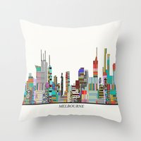 melbourne Throw Pillows featuring Melbourne by bri.buckley