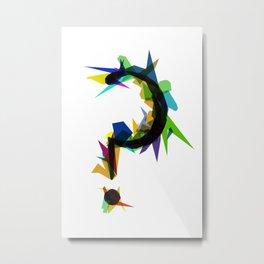 Broken Question Metal Print