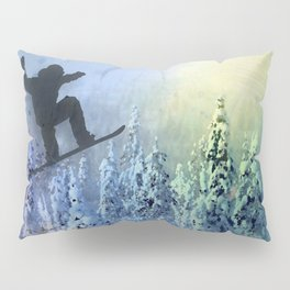 The Snowboarder: Air Pillow Sham