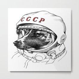 Laika Space Traveler Metal Print