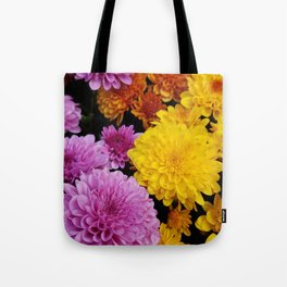Bunches of Mums Tote Bag