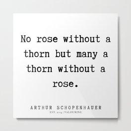 22      Arthur Schopenhauer Quote   191226 Metal Print