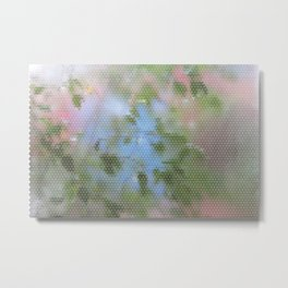 Wet Leafy Color Pattern Metal Print