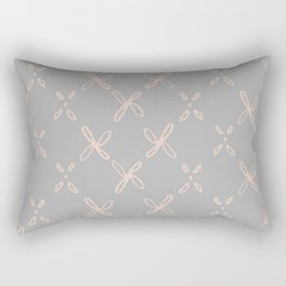 Pink & Gray Abstract Astral Pattern Rectangular Pillow