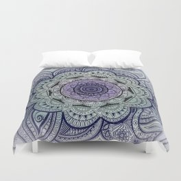 Mandala Violet Duvet Cover