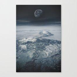 Moon Over Earth Canvas Print