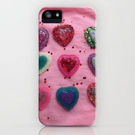 Glitter Hearts Club iPhone Case