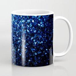 Beautiful Dark Blue glitter sparkles Coffee Mug