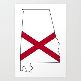 Alabama Love Art Print