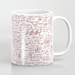 Physics Equations in Red Pen Coffee Mug