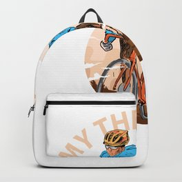 My Therapist Bicycle - Funny Therapy Cycling Bike graphic Backpack