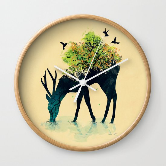 Watering (A Life Into Itself) Wall Clock