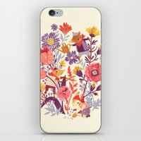 garden iPhone & iPod Skins featuring The Garden Crew by Teagan White