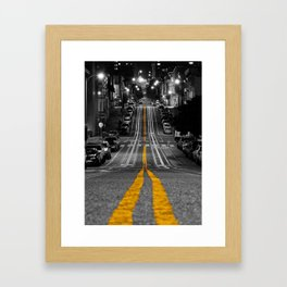 Down the Line: Mason Street and Cable Car Lines Framed Art Print