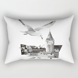 Galata tower & seagull  Rectangular Pillow