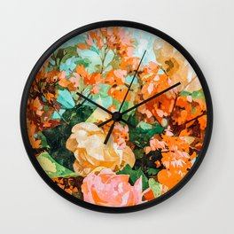 Blush Garden #painting #nature #floral Wall Clock