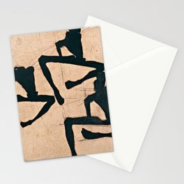 Egon Schiele  -  Composition With Three Male Nudes Stationery Cards