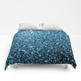 Beautiful Baby blue glitter sparkles Comforters