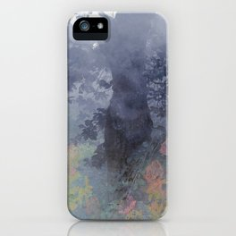magical forest with ghostly flowers iPhone Case