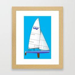 470 Olympic Sailboat Framed Art Print