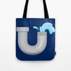Alphabet U Tote Bag