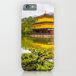 Kinkaku-ji or golden pavilion and pond, Kyoto iPhone Case