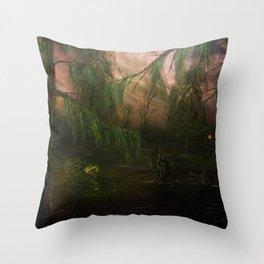 Swamp La Vie: Scouting in Twilight (2015) Throw Pillow