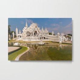 Wat Rong Khun Temple Metal Print