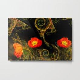 Decorative poppy Metal Print