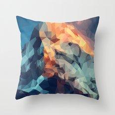 Mountain low poly Throw Pillow