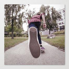 Skateboarder - Push Canvas Print