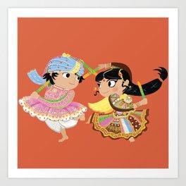 Indian Dance Art Print