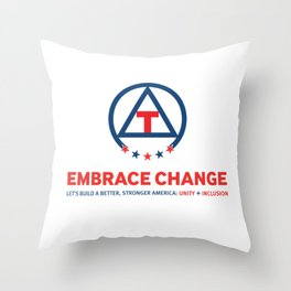 Embrace Change: Unity + Inclusion Throw Pillow