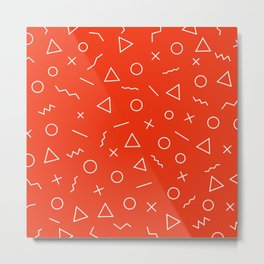 MEMPHIS ((cherry red)) Metal Print