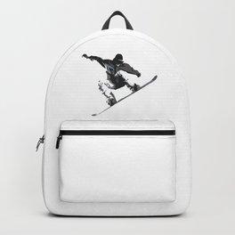 Snowboard Jumping Cartoon Backpack