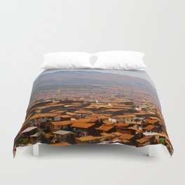 Above Cusco Duvet Cover