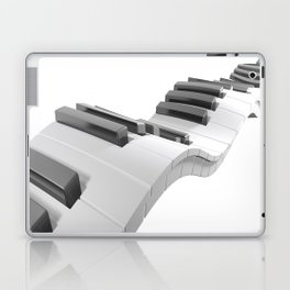 Keyboard of a piano waving on white background - 3D rendering Laptop & iPad Skin